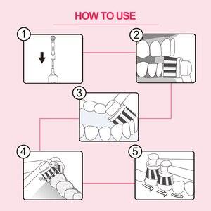 Image 5 - Cepillo de dientes eléctrico giratorio de carga por inducción con 2 cabezales de cepillo productos de higiene bucal limpiador de cepillos de dientes recargable