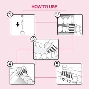 Image 5 - Döner Elektrikli Diş Fırçası Indüksiyon Şarj 2 Fırça Kafaları ile Ağız Hijyeni sağlık ürünleri Şarj Edilebilir Diş Fırçası Temizleyici