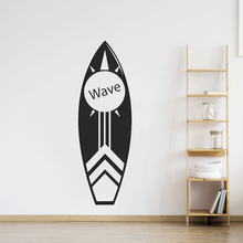 Surfboard Wall Art Decal Coastal Waves Sea Beach Vinyl Mural Removable Surfing Tropical Water Sports Poster W437