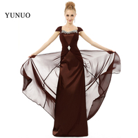 High Quality Sparkly Crystals Cap Sleeves Floor Length Elegant Mother Of The Bride Dresse Charming Long