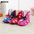 New Winter Warm Cotton-padded Shoes Love Graphic Design Home Slippers Soft Bottom Indoor House Shoes Foot Warmer Women Slippers