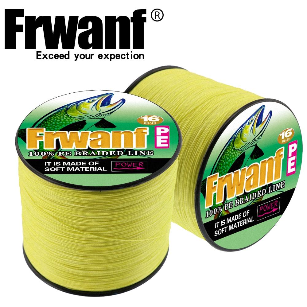 Frwanf 500 M 16 Tresse Multifilament Ligne De Pêche pour la Pêche D'hiver Pêche Filetage 20 30 40 50 60 70 80 100 130 150 200 250 300LB