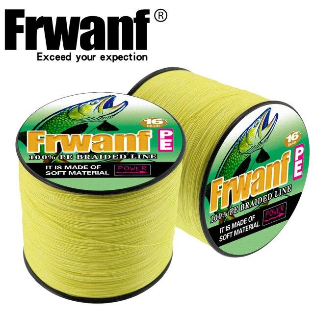 Frwanf 500M 16 Braid Multifilament Fishing Line for Winter Fishing Fishery Thread 20 30 40 50 60 70 80 100 130 150 200 250 300LB