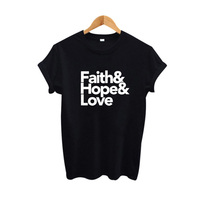 Starsailor Fede Speranza Amore T Shirt Hipster Abbigliamento Donna Fashion T Shirt 2017 Donna Top T Shirt Femme