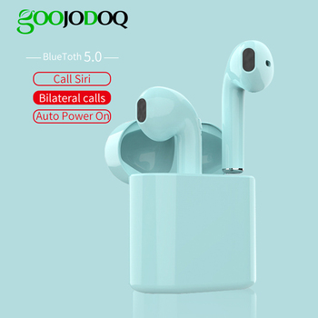 GOOJODOQ 5.0 Wireless Earphones I20 TWS Bluetooth Headset Portable Stereo Bluetooth Wireless Earphone With mic  HiFi Bluetooth