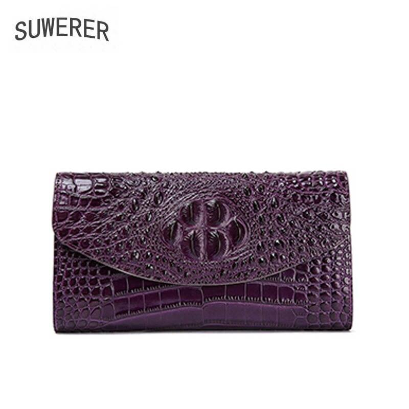 Peau Mode Luxe Sac Designer Bandoulière De Nouveau Haute Produits Suwerer100 À violet 2018 red Crocodile Vache 100 Qualité La Black vzpxAq