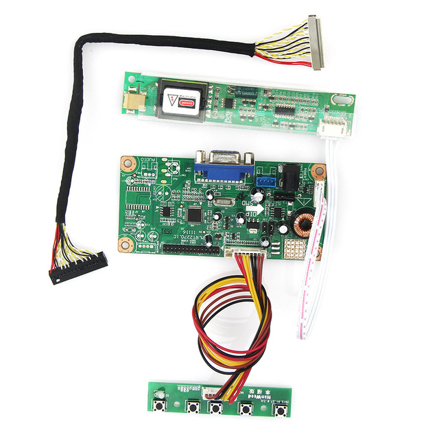 For LP171WP4(TL)(N2) LP171W01(A4)  Control Driver Board VGA LVDS Monitor Reuse Laptop 1440x900 Free Shipping