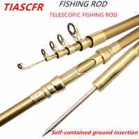 Caña de pescar súper dura telescópica TIASCFR 1,8 M-3,6 M caña de pescar giratoria portátil caña de pescar mar carpa equipo de pesca