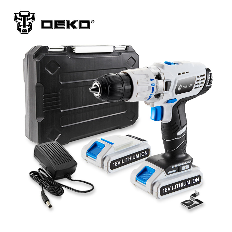 DEKO GCD18DU3 18V DC New Design Mobile Power Supply Lithium-Ion Battery Cordless Drill Power Drill Impact Drill Electric Drill 3 7v lithium polymer battery 925593 5200mah mobile power tablet pc diy