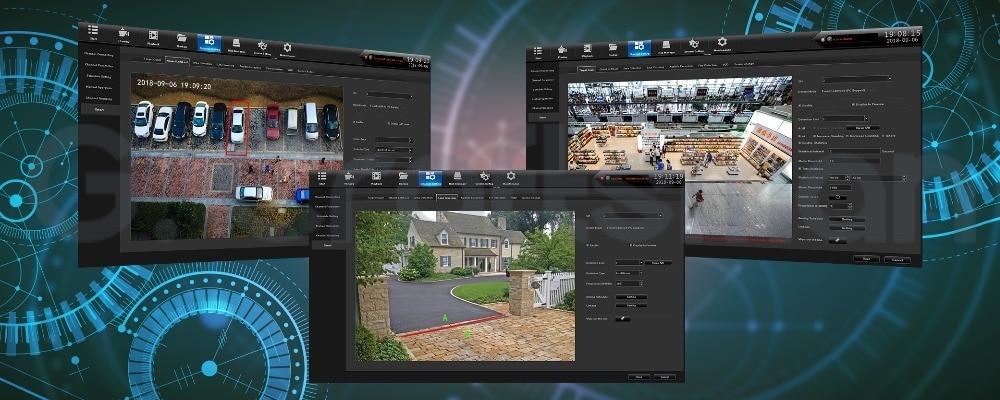segurança cctv inteligente nvr câmera ip impermeável