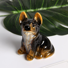 Sculpture Ceramic Dog Cute Model Photography Props Home Decor High-temperature Ceramic Colored Glaze Gift Dog Decoration недорого
