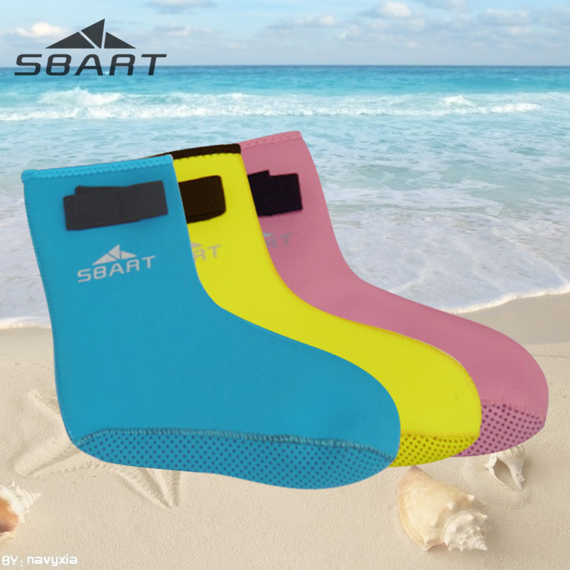 Professional Silicone Warm Baby Water Sports Swimming Socks Blue/Pink Lovely Fin Water Socks Kid Foot Protect Beach Safety Socks