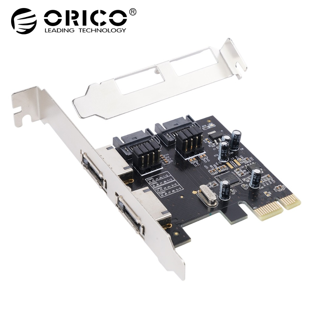 ORICO PCI-e PCI Express Controller Card PCI E PCI Express to SATA 3.0 eSATA Adapter Converter Extension Card X1/X4/X8/X16 цена