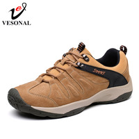 VESONAL Spring Autumn Quality Genuine Leather Casual Sneakers Men Shoes Male Walking Brand Comfortable Non Slip