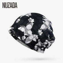 Brand NUZADA Autumn Winter Women Hedging Cap Skullies Beanies Knitting Caps Bonnet Double Layer Cotton Knitted Hat Lace Cap