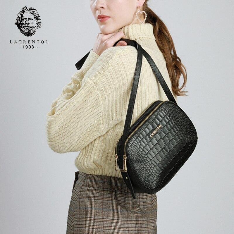 LAORENTOU marque femme mode cuir sacs rétro Alligator sac à bandoulière sac à main dame bandoulière sacs femmes saint valentin cadeau