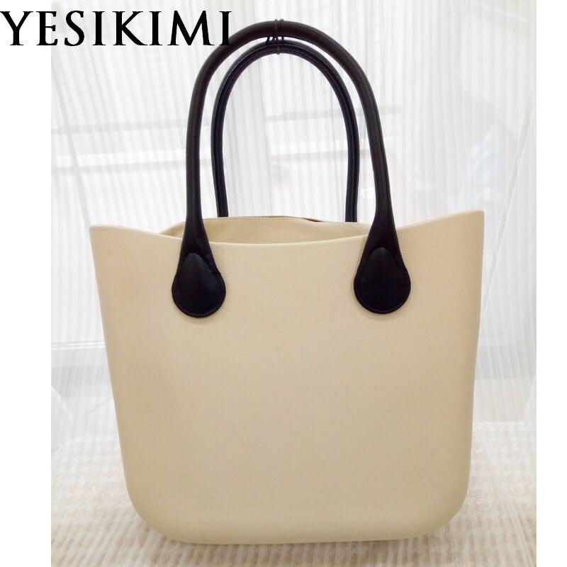 Beige Silicone Bag Women Bucket bags O Casual Tote Summer Beach Purses 42CM Classic obag Silica Handbag Design Bolsas