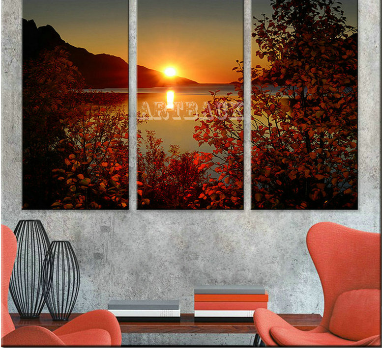 5d diy diamond painting tree sunset landscape diamond mosaic full square drill3d art diamond embroidery 3 piece set