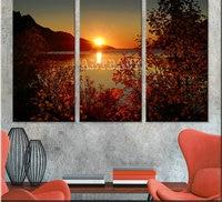 5d diy diamond painting tree sunset landscape diamond mosaic full square drill3d art diamond embroidery 3 piece set