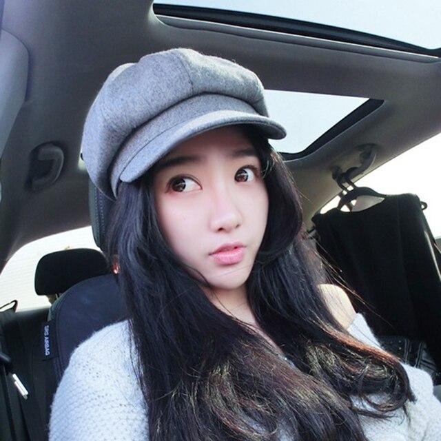 580d6f9cb78c2 2017 Hot Sale High Quality Wool Women Beret Hat Cap Girls Beret Autumn and  Winter British Style French Tweed Boina Feminina