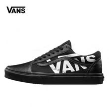 17620becbb 2018 Vans Old Skool Classic Non-slip shoes Unisex Black Sneakers Men s  Low-top Athletic Shoes Women s Leisure Skateboarding Shoe