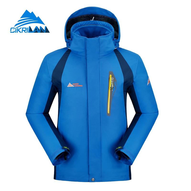 ФОТО 2016 Outdoor 3 in 1 Hiking Casaco Climbing Waterproof Ski Jacket Men Windstopper Clothes Sport Coat Camping Jaqueta Masculina