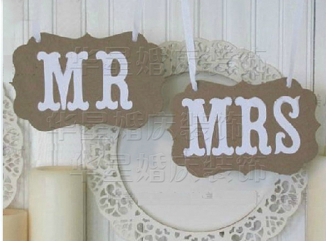 Personalized name1 set vintage style mr mrs sign hessian wedding personalized name1 set vintage style mr mrs sign hessian wedding cute bunting banner junglespirit Gallery