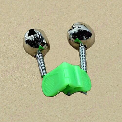 5 piezas al aire libre doble barra campanas anillo cebo de pesca señuelo accesorio alarma producto
