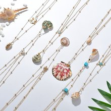 2019 Boho Conch Shell Necklace Gold Chain Women Seashell Choker Pendants Jewelry Bohemian Female
