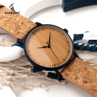2017 BOBO BIRD Wooden Watches Cork Strap Unique Wood Watch Ladies Wristwatch For Men And Women