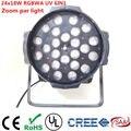 24x18 watt Zoom 10-60 grad LED Par Licht rgbwa uv 6in1 led par licht dj dmx controller lichter Led Zoom Par Licht