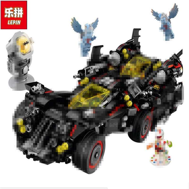 Lepin 07077 1496Pcs Genuine Batman Movie Series The Ultimate Batmobile Set Educational Building Blocks Bricks Toys Model 70917 1496pcs genuine batman movie series the ultimate batmobile set educational building blocks bricks toys compatible lepins model