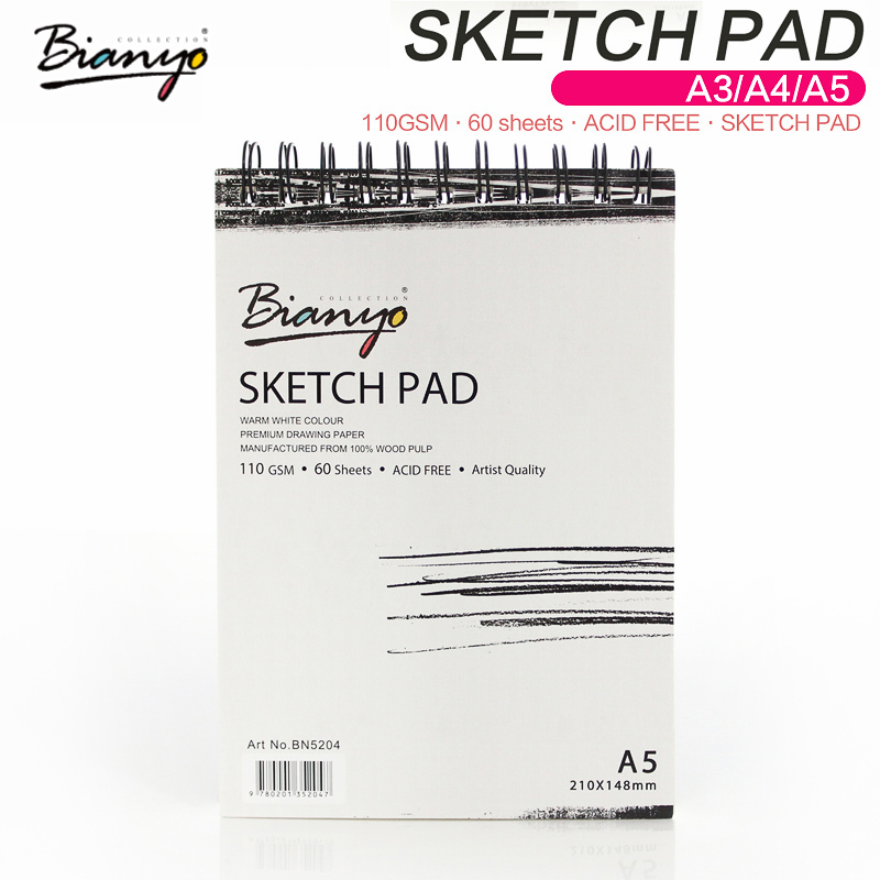 Bianyo Professional Sketchbook For Art Notebook A3/A4/A5 Artist Supplies For Diary Painting Sketch Book Office Drawing Accessory цена 2017