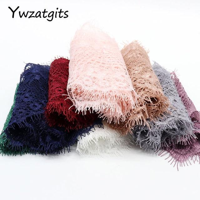 Ywzatgis вышитая Цветочная кружевная отделка для одежды, 14 цветов, сделай сам, швейное платье, 3 ярда в партии, YR0503