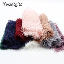 Ywzatgits 14 צבעים פרח רקום בגד תחרה לקצץ תחרה DIY תפירת שמלת 3 מטרים/הרבה YR0503