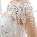 2016 Luxo Cristal Frisado Jaqueta LaceWedding Líbano Árabe Brilhante Rhinestone Nupcial Wraps Bolero Acessórios do casamento Do Laço