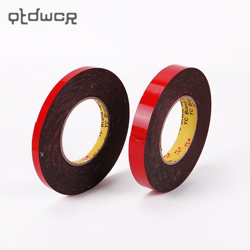 1PC Durable Double Sided Tape Adhesive High Strength Double Faced Tape Foam Attachment Tape Two Sided Adhesive 10mX20mm 1 pcs deli 2 4cm 10y super slim strong adhesion white double sided tape doubles faced adhesive for office supplies