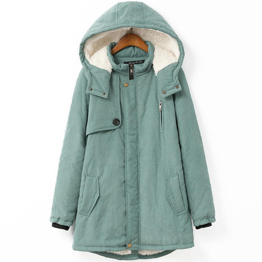 Women's Large Size loose Winter Jacket Thickened cotton hooded Jacket pregnant women coat hot sale open front geometry pattern batwing winter loose cloak coat poncho cape for women