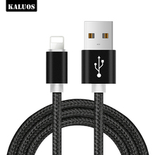 цена на KALUOS 3m Metal Braided USB Cable For iPhone X XS Max XR 5 5S Fast Charging USB Data Cable for iPhone 8 7 6 6S Plus Charger Wire