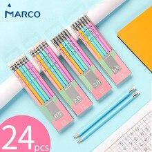 マルコ Lapices 生徒かわいい鉛筆カラフルな六角形の鉛筆 2B HB 書き込み鉛筆 Lapices 消しゴム安全で、非毒性で Papeleria