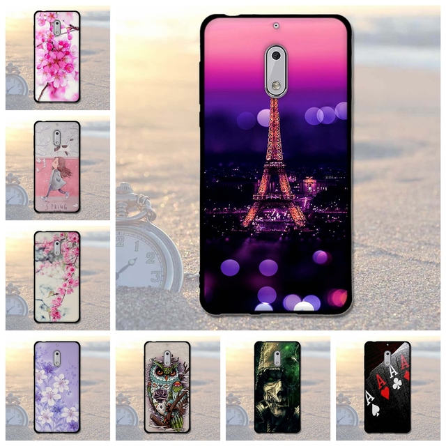 Luxury Paint Case For Nokia 6 Cover Silicon Back Coque Android 7 Phone Fundas For Nokia6 5.5 Inch Soft TPU Case For Nokia 6 Bags