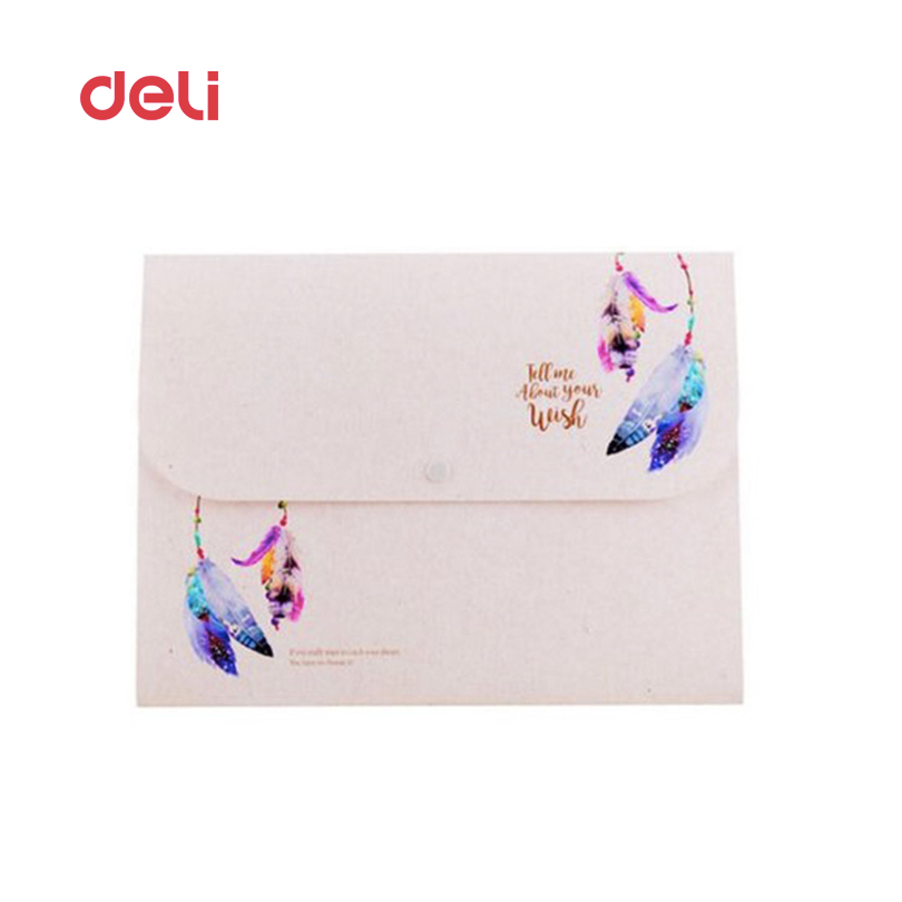 Deli Cute File Folder Waterproof Expanding Wallet candy color Document bag file folder A4 Porta document 2017 expanding wallet simple plastic 5 section index band folder document file storage organizer filling stationery a4 size expanding wallet 4 colors