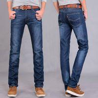 2 Color Classical Straight Slim Men Jeans Hot Sale Fashion Male Retail Wholesale Denim Blue Jeans