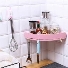 Plastic Wall-Mounted Bathroom Cosmetic Shampoo Storage Rack Bath Organizer Corner Shelf Storage Washing Holder Racks For Kitchen