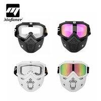 Mofaner Motorcycle Mask Motocross Detachable Face Mask Open Face Antifog Helmet Masks Cycling Ski Goggles Vintage