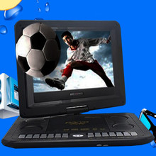 DVD, VCD Players 13.8 Inch Portable DVD Player HD TV With Analog USB Card Reader Radio Games Swivel High-Definition Screen 10.2