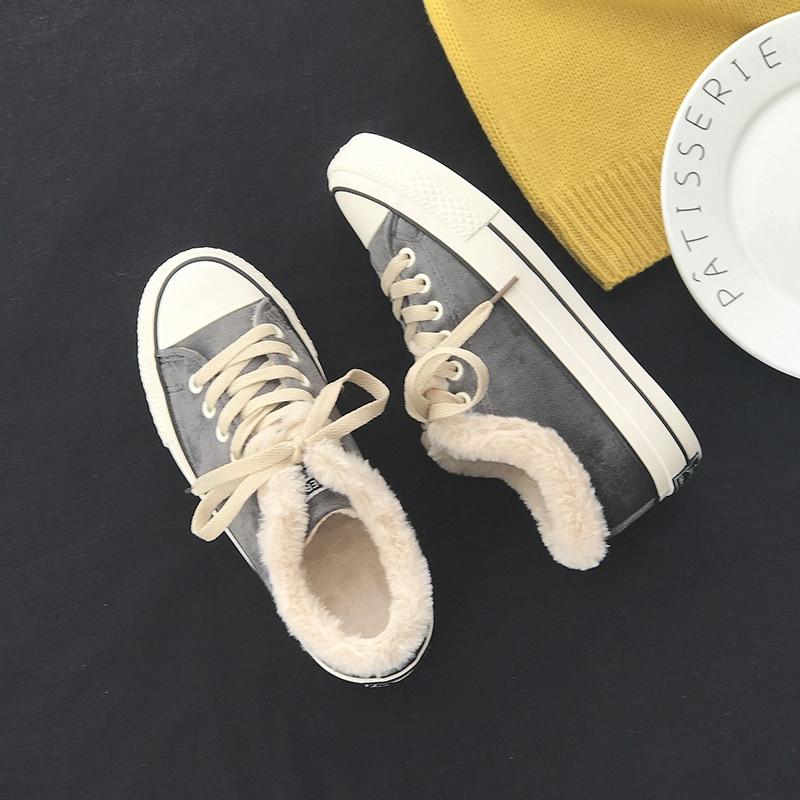 À Cachemire 2018 Chaussures De Chaud L'intérieur Match pourpre Unie Fourrure Noir gris D'hiver Couleur Garder rose Au Neige Tout Femmes Bottines Baskets qXw08dtt