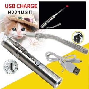 Image 5 - 3 で 1 レーザーポインター led 懐中電灯猫のペットトレーニングツール usb 充電式 uv フラッシュランプ led フラッシュライトミニランテルナランプ