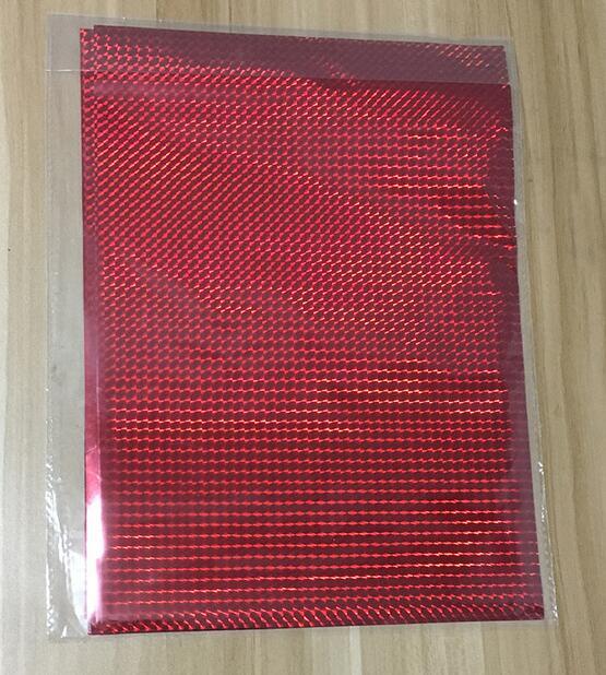 50 шт. золотой черный красный горячего тиснения фольги бумажный ламинатор для ламинирования переноса на элегантность лазерный принтер бумага для рукоделия 20x29 см A4 - Цвет: Red Sqare