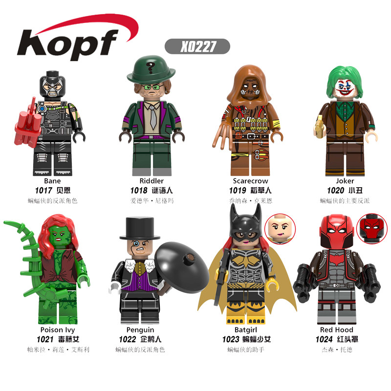 Single Sale Building Blocks Avengers Super Heroes Bane Riddler Scarecrow Joker Bricks Figures For Children Collection Toys X0227